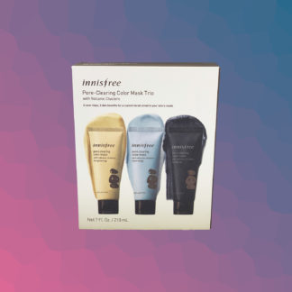 INNISFREE Pore-clearing color mask trio with volcanic clusters