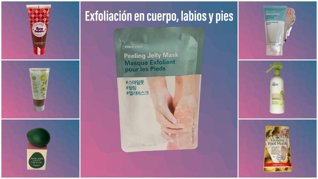 La exfoliación puede hacerse en todo el cuerpo.