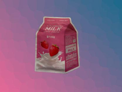 A'PIEU Milk One-Pack Mask Sheet - Strawberry