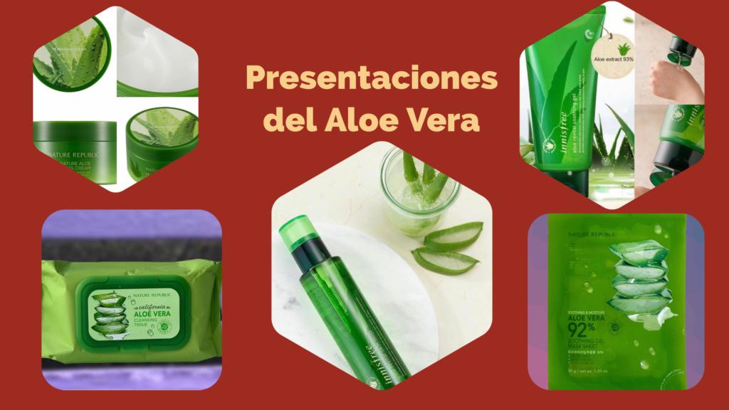 Presentaciones del Aloe Vera
