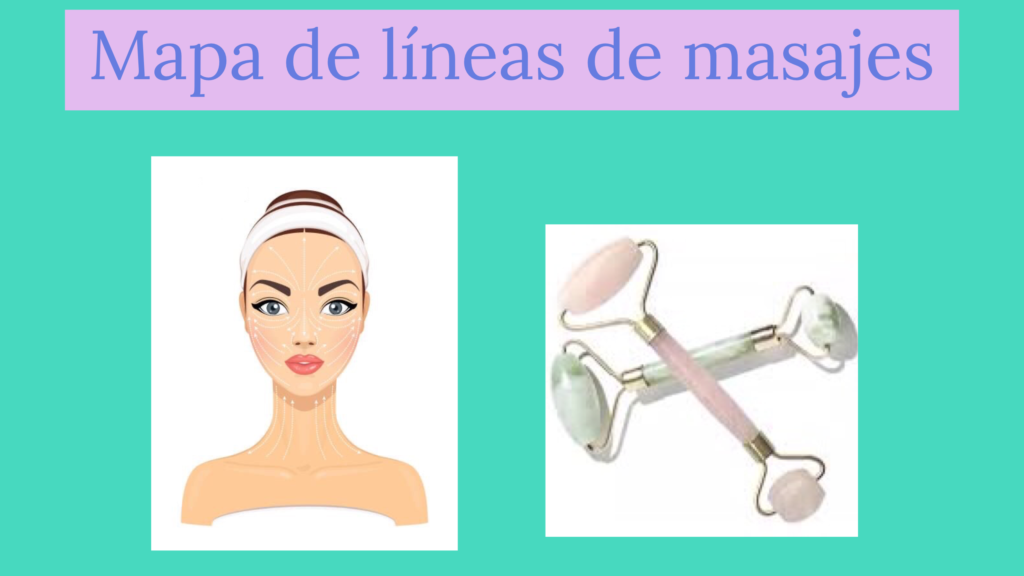 Mapa de líneas de masajes faciales